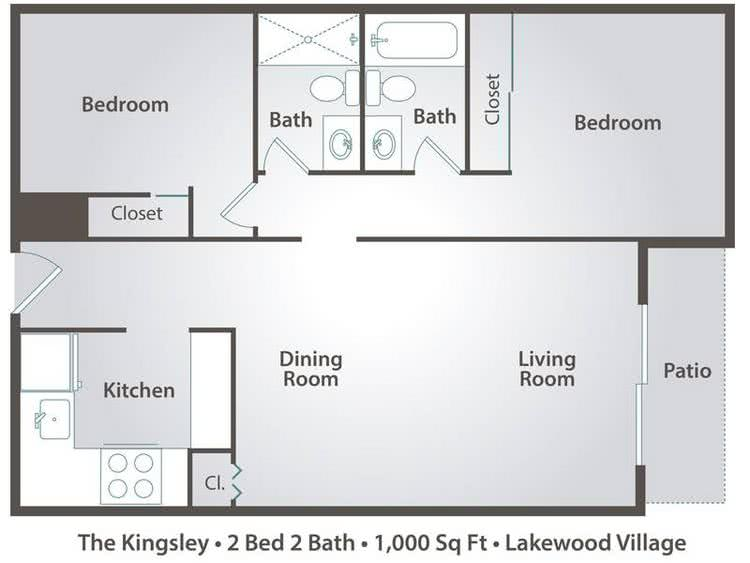 2 Bedroom Apartment Floor Plans Pricing Lakewood Village Jacksonville Fl