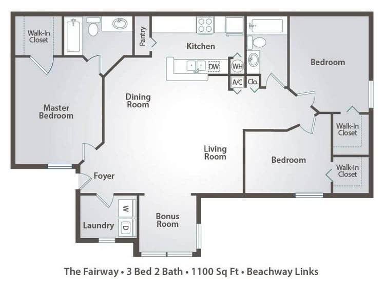 Apartment Floor Plans Pricing Beachway Links In Melbourne Fl