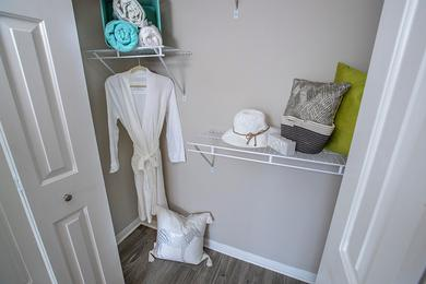 Spacious Closets | Spacious closets with built-in organizers.
