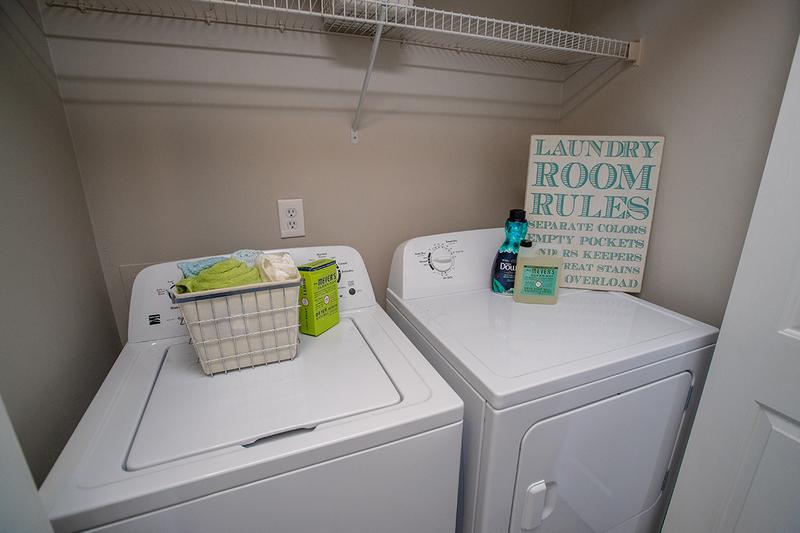 Full Size Washer and Dryer | All of our apartment homes include a full size washer and dryer.