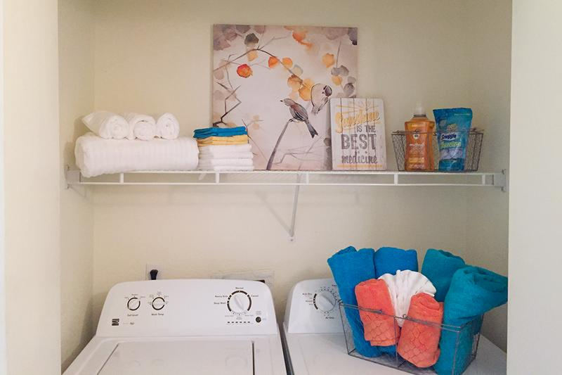 Washer and Dryer Connections | All of our apartment homes include washer and dryer connections.