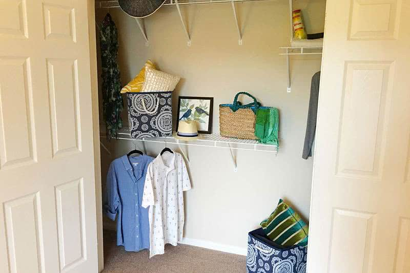 Closet | Bedrooms feature spacious closets with built-in organizers.