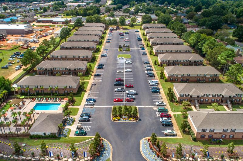 Our Community | An aerial view of The Mills at 601, offering apartments for rent in Prattville, Alabama.