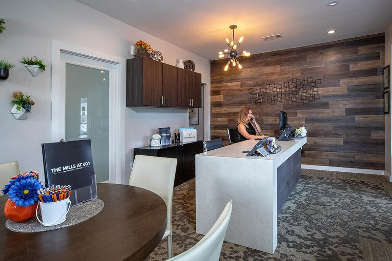 Leasing Office Interior | Our friendly leasing staff is waiting to help you find your next home!