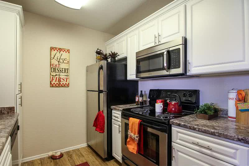 Stainless Steel Appliances | Your apartment home is complete with stainless steel appliances in the kitchen.