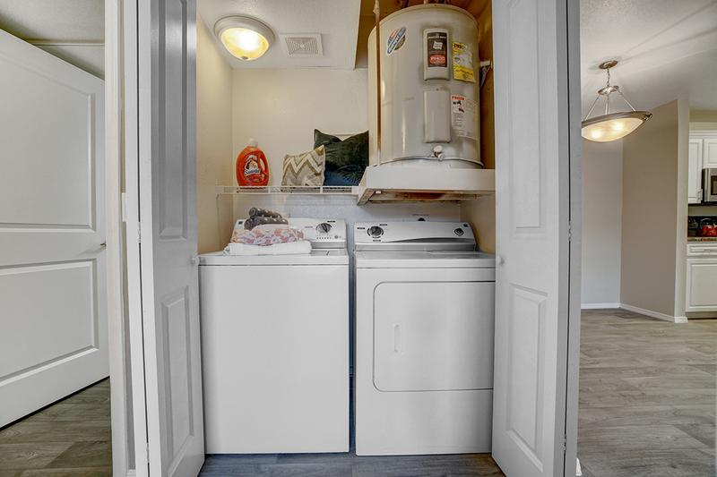 Washer & Dryer Included | Speaking of convenience, all apartments also come with a full size washer/dryer already  in the apartment!