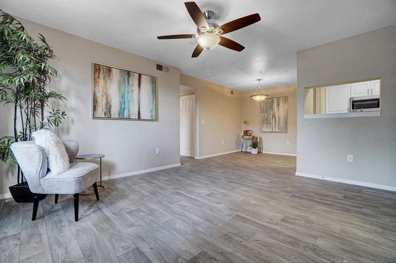 Spacious Open Floor Plans | Enjoy our spacious, open concept living room, open to the kitchen and dining room!