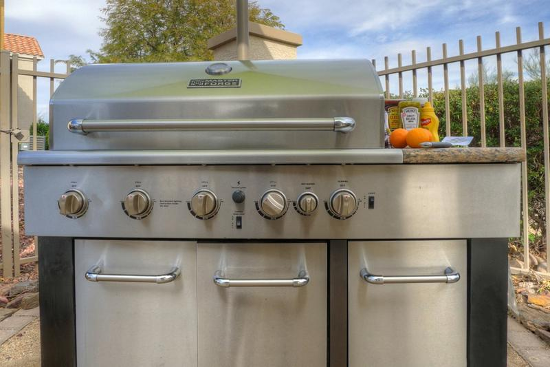 BBQ Grill | Don't want to grill inside on a beautiful day? Then grill pool side with our stainless steel grill available to our residents!