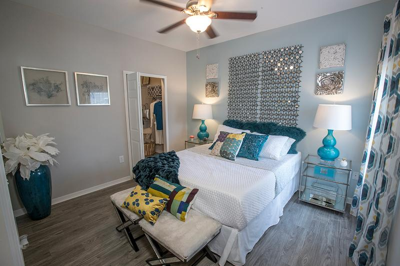 Master Bedroom | Master bedrooms featuring large closets with built-in organizers.