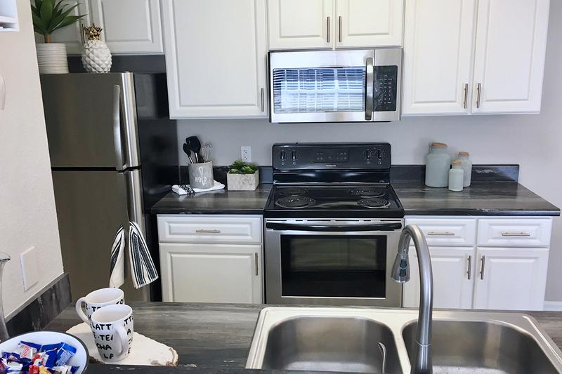Stainless Steel Appliances | Updated kitchens feature stainless steel appliances.