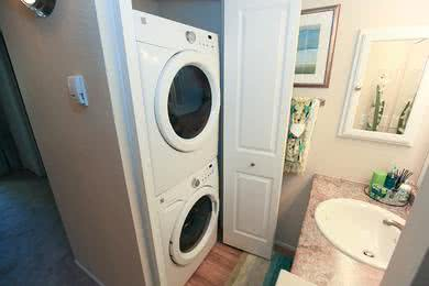 Washer & Dryers | All apartment homes feature washer and dryer appliances.