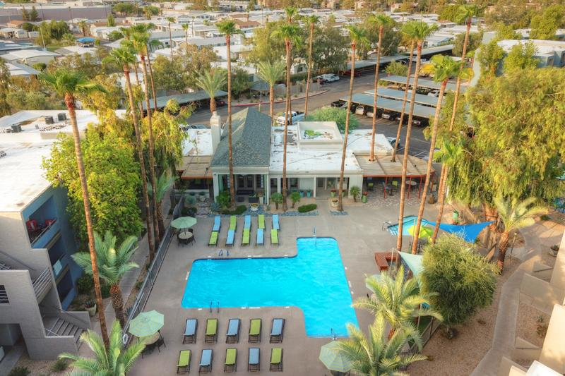 Pool Area | An aerial view of our expansive sundeck.