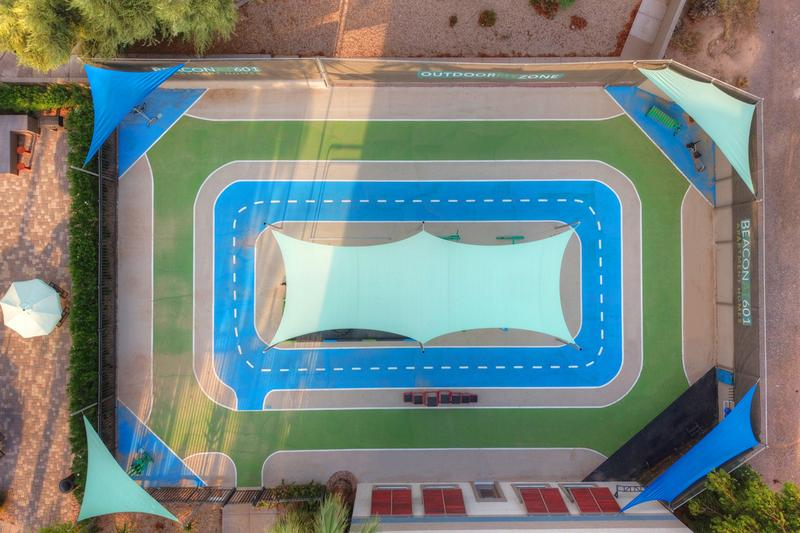 Outdoor Fit Zone | An aerial view of our outdoor fit zone.