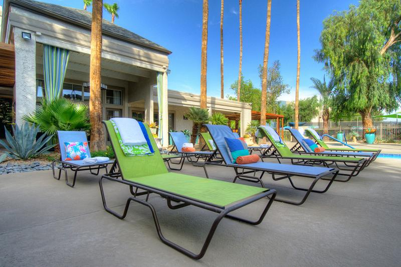 Poolside Loungers | Soak in the sun from one of our poolside loungers.