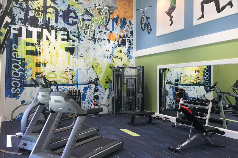 Fitness Center | Brand new, state-of-the-art fitness center featuring all the weight training and cardio equipment you need for a full body workout.