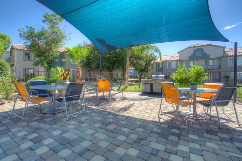 Poolside Picnic Area | Have a cookout at our poolside picnic area.