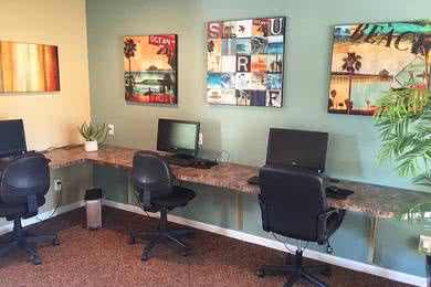 Business Center | Our resident business center is a great place to catch up on some work.