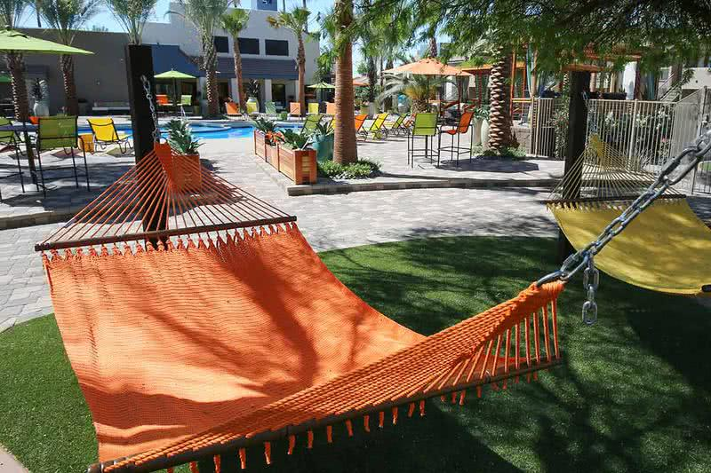 Hammock Garden | Lay back in one of our hammocks located next to the pool.