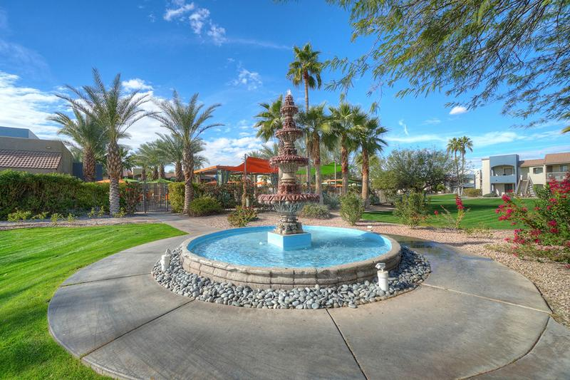 Beautiful Courtyard Views | Enjoy beautiful views of our courtyard, featuring a fountain.
