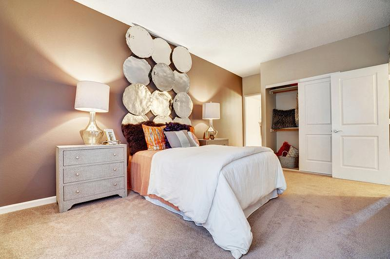 Master Bedroom | Spacious bedrooms featuring large closets. Some of our floor plans even feature walk-in closets for your convenience!