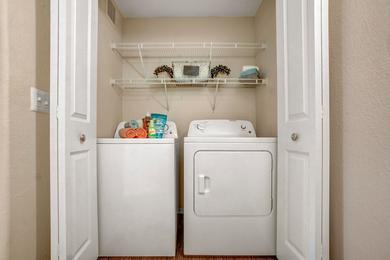 Washer and Dryer | All of our apartment homes feature a full size washer and dryer for your convenience.