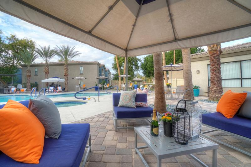 Friends & Family Welcome | Enjoy a relaxing day by the pool under our poolside cabana.
