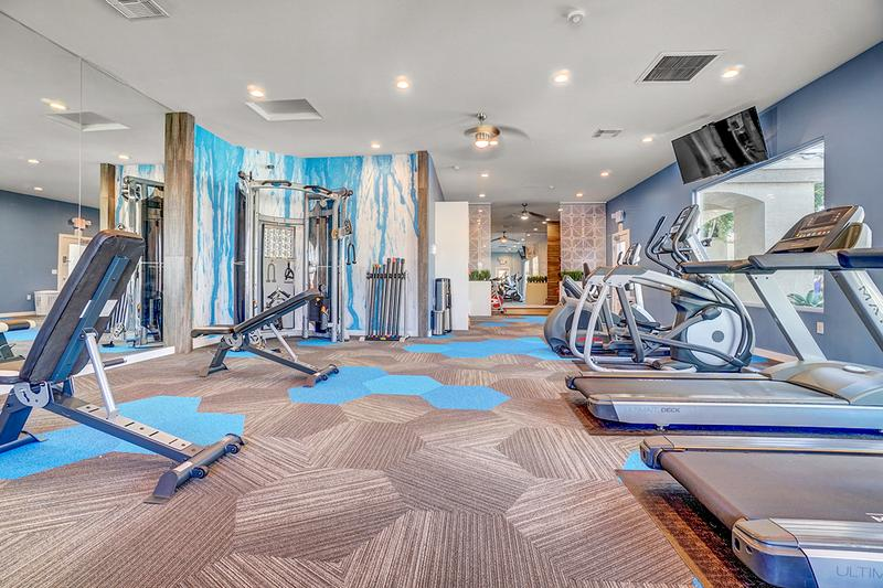 Weight Training Equipment | Our fitness center also features weight training equipment so you can get a full body workout.