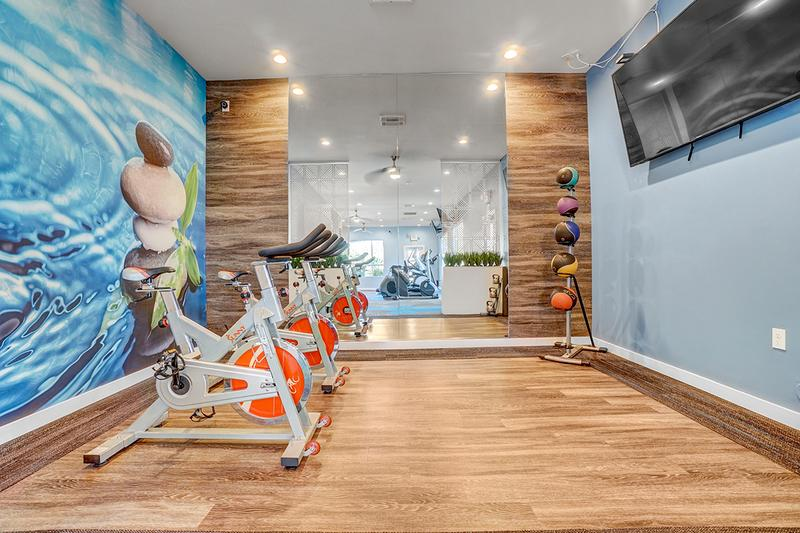 Cycling/Yoga Studio | Our fitness center features a cycling/yoga studio as well.