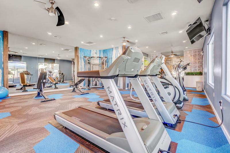 Cardio Equipment | Our resident fitness center features all the cardio equipment you need.