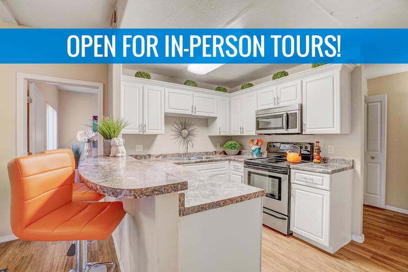Chef Inspired Kitchen | Large, open kitchen with new stainless steel appliances and ample amounts of storage space. We are excited to offer in-person tours while following social distancing and we encourage all visitors to wear a face covering.