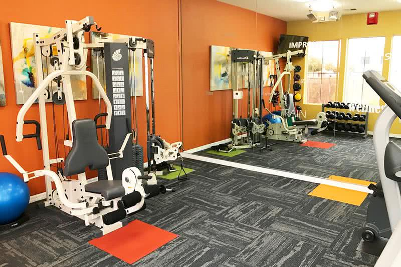 Fitness Center | Get an invigorating workout at our resident fitness center.