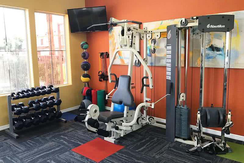 Fitness Center | Enjoy working out on your own schedule at our resident fitness center, open 24-hours a day.
