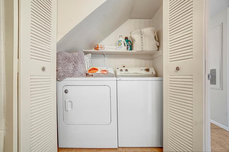 Washer & Dryer Included | All apartment homes come with a full size washer and dryer already in the apartment!