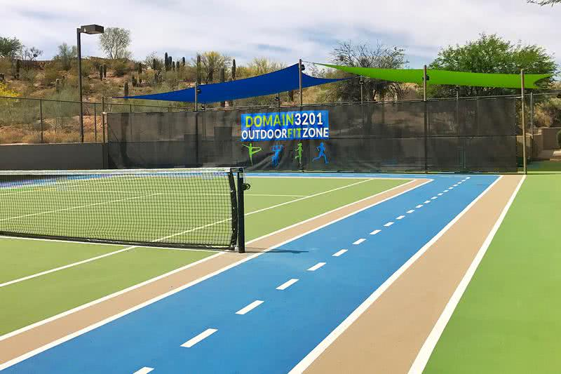 Tennis Court | Play a game with some friends at our lighted tennis court!