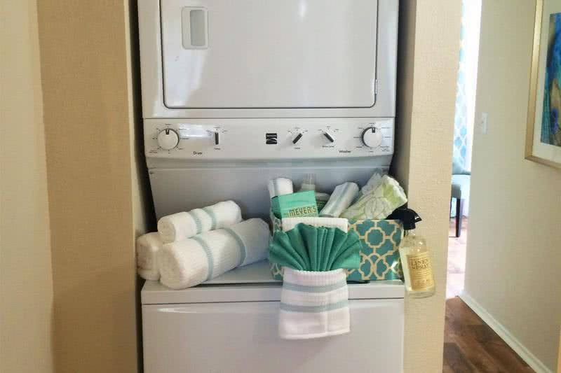 Laundry | Washer & Dryer appliances included in select apartment homes.