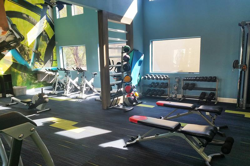 Fitness Center | Our newly remodeled, resort-style fitness center is open 24-hours a day!