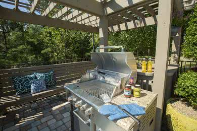 Gas Grill | Have a cookout using our gas grill by the poo area.