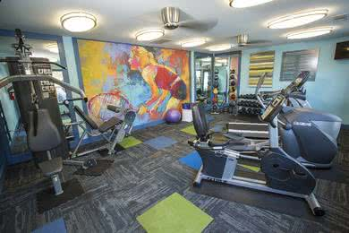 Fitness Center | Our fitness center includes all the weight training and cardio equipment you need for a full body workout.