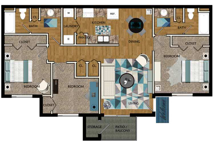 Apartment floor plans pricing wellington at chenal for 3 bedroom apartments in little rock ar