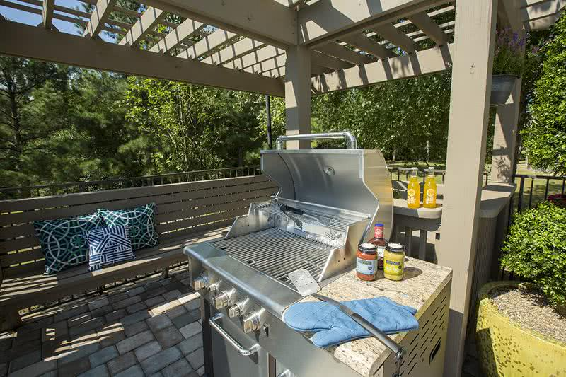 Gas Grill | Residents love having cookouts by the pool on our gas grill.