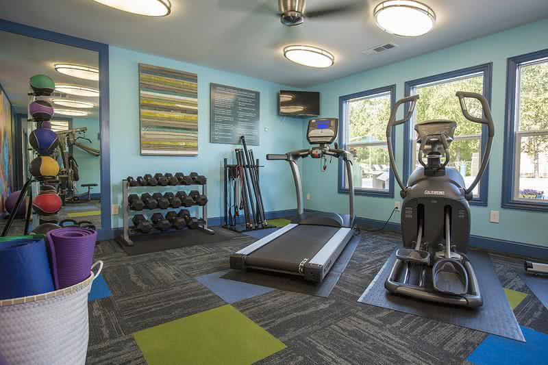 Fitness Center | Our resident fitness center is open 24-hours a day and includes all the cardio and weight training equipment you need!