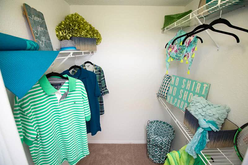 Walk-In Closets | Master bedrooms include walk-in closets with built-in organizers.