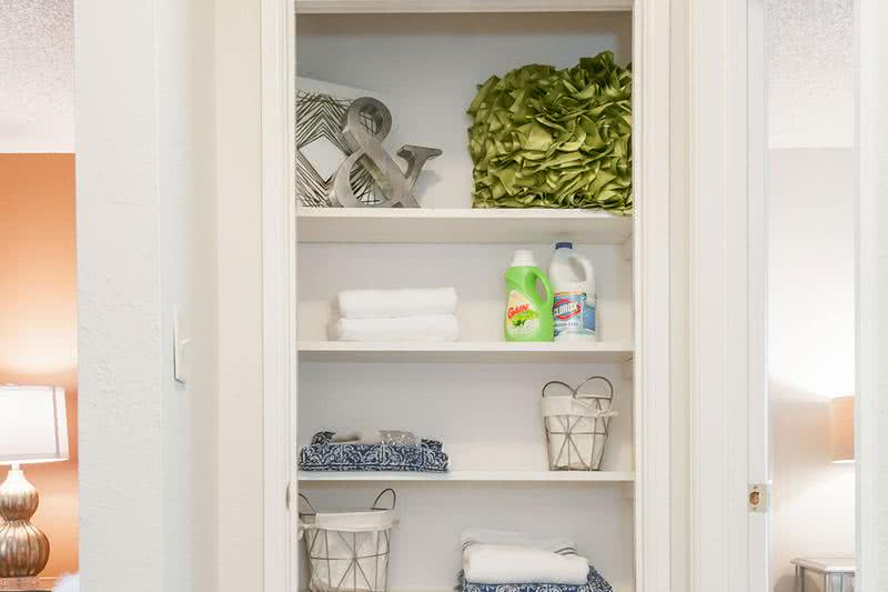 Linen Closet | Linen closet located in the hallway.