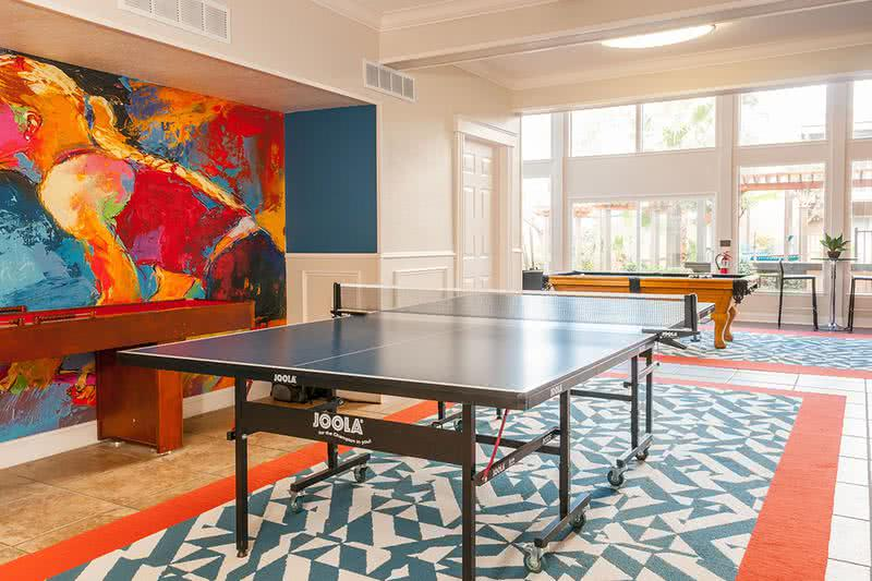 Ping Pong Table | Play a game of ping pong in our game room.