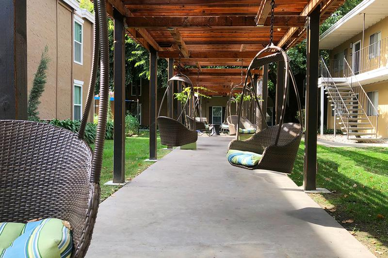 Swing Garden | Relax in the shade at our swing garden.