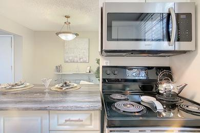 Stainless Steel Appliances | Rest assured that your kitchen is complete with all the appliances you've come to rely on.