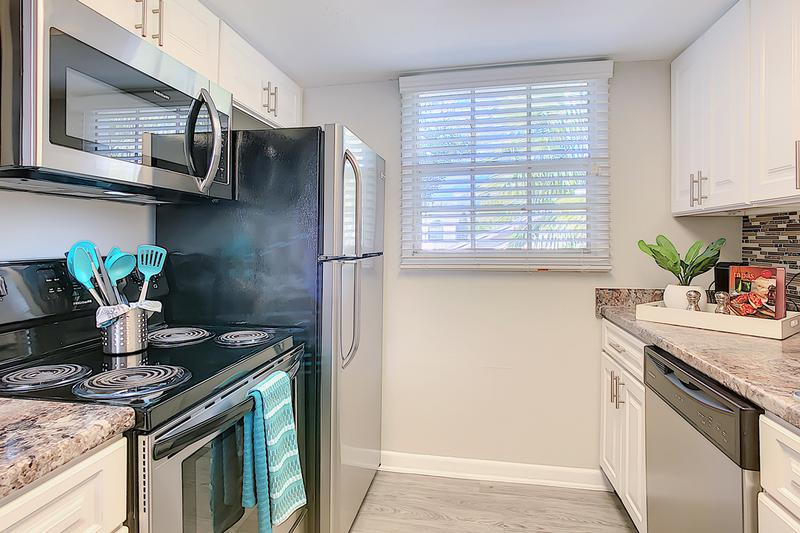 Stainless Steel Appliances | Your new kitchen is fully stocked with stainless steel appliances, including a dishwasher!