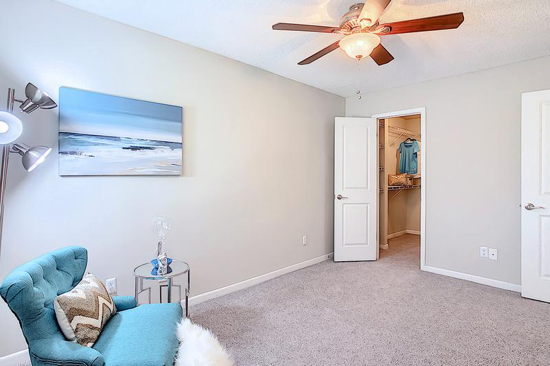 Bedroom | Bedrooms featuring plush carpeting and a ceiling fan.