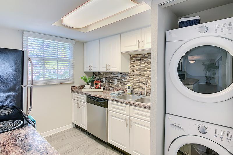Washer & Dryer | Your newly remodeled kitchen is complete with washer and dryer connections in the closet.
