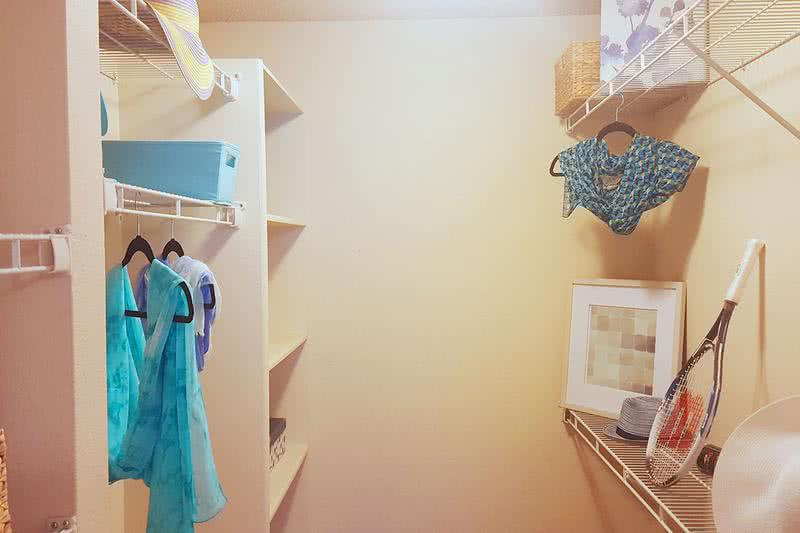 Walk-in Closet | Large walk-in closet with built-in organizers.